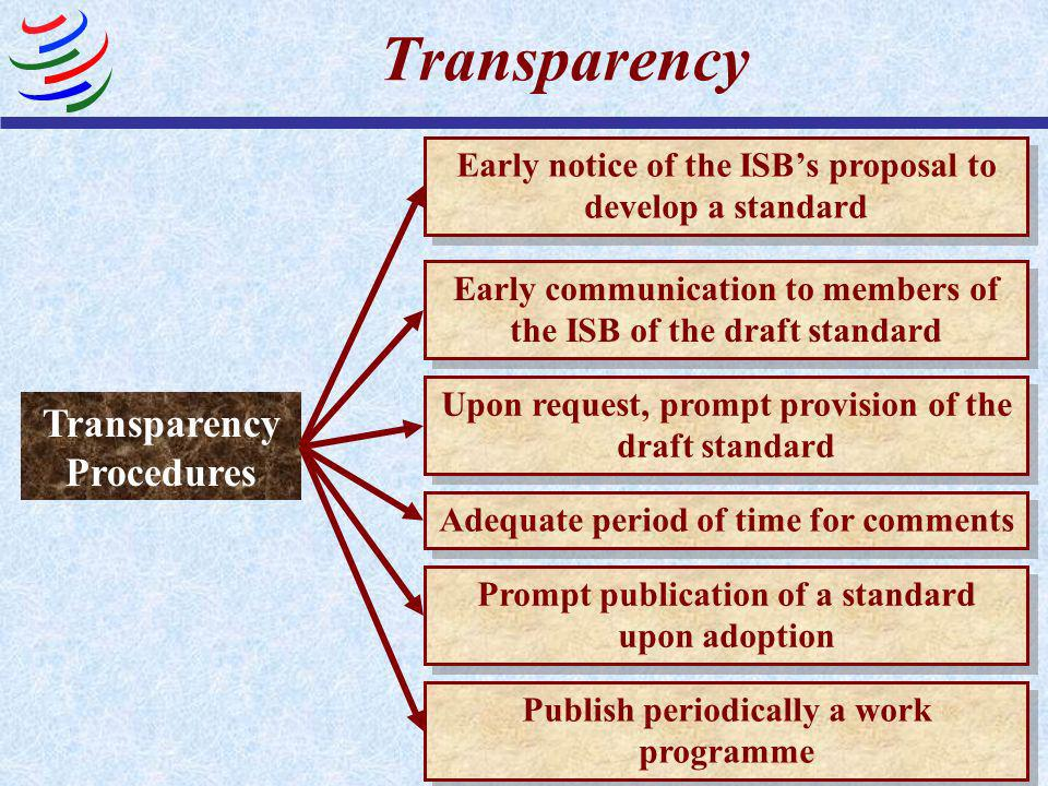Transparency General Principle Easily accessible essential information On current work programmes, proposals and final results To provide for adequate