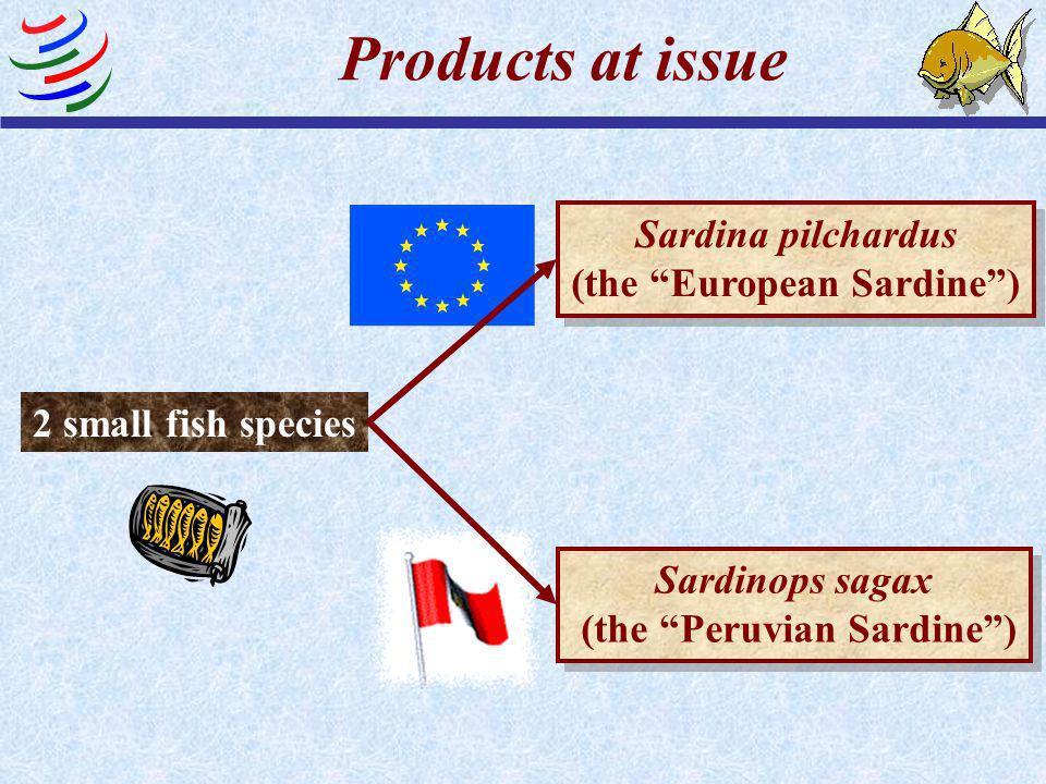 The first TBT case: EC - Trade Description of Sardines (Peru)