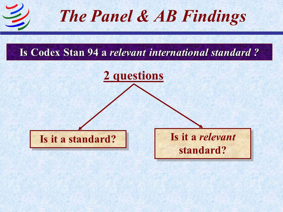 Is the EC Regulation a Technical Regulation? YES It lays down product characteristics Compliance with the EC Regulation is mandatory The Panel & AB Fi