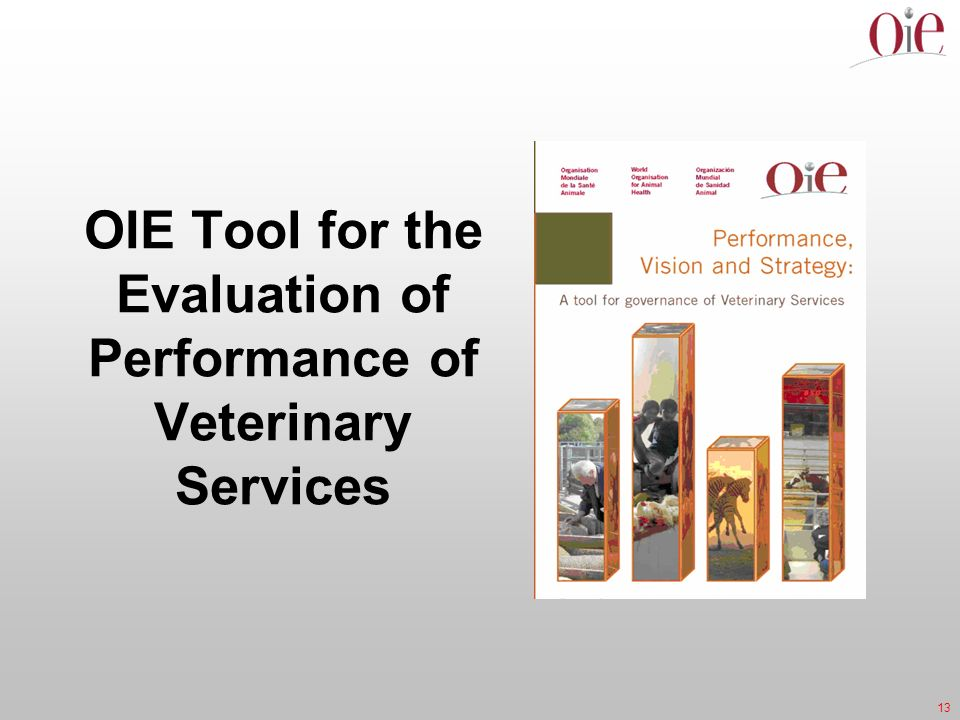 13 OIE Tool for the Evaluation of Performance of Veterinary Services