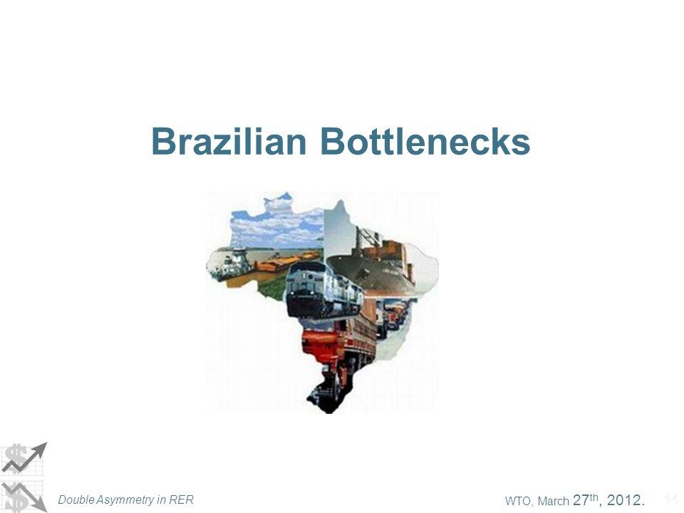 WTO, March 27 th, 2012. Double Asymmetry in RER 14 Brazilian Bottlenecks