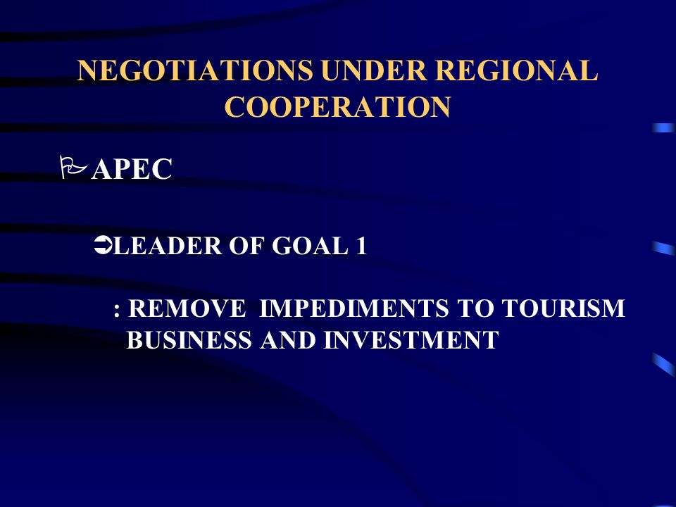NEGOTIATIONS UNDER REGIONAL AGREEMENTS PASEAN NTOs TASK FORCE ûPROBLEMS ENCOUNTERED DURING THE NTOs MEETING CPC 64110 - HOTEL LODGING SERVICES –MODE 1 : NONE OR UNBOUND BECAUSE NOT TECHNICALLY FEASIBLE .