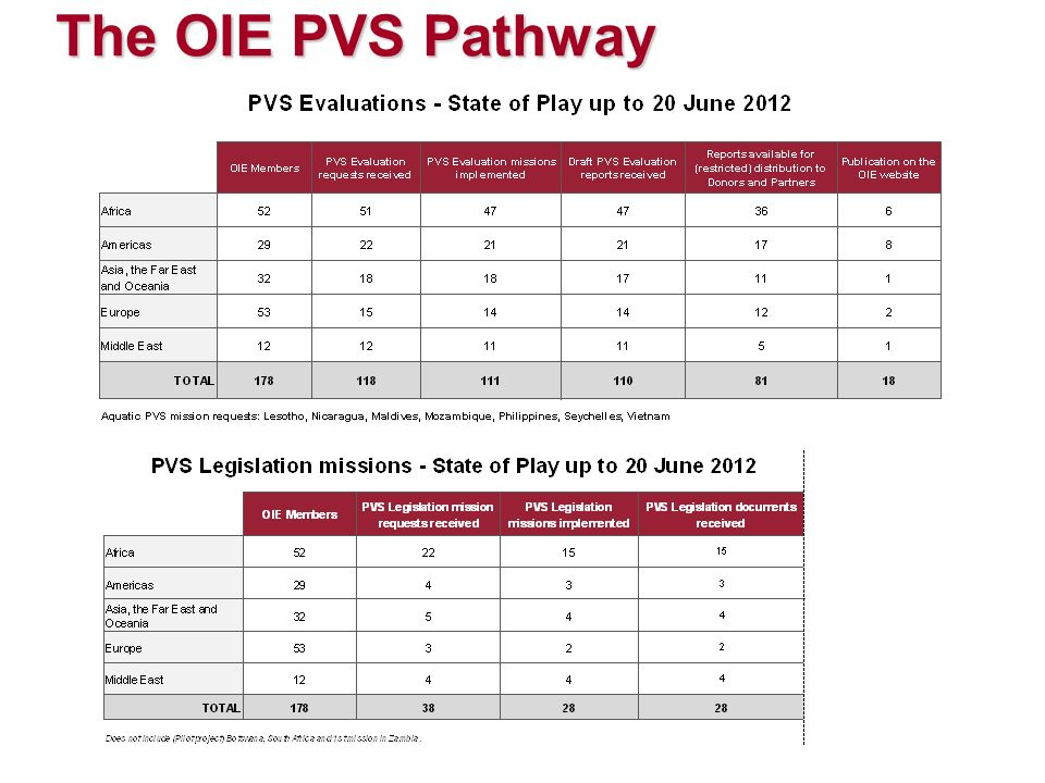 The OIE PVS Pathway