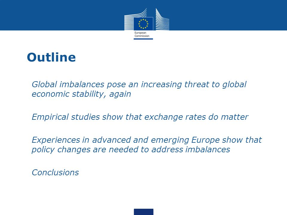 Outline 1.Global imbalances pose an increasing threat to global economic stability, again 2.Empirical studies show that exchange rates do matter 3.Exp