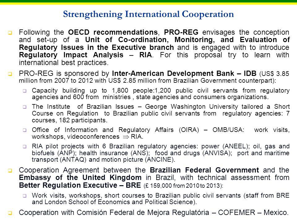 Brazil (INMETRO) – USA (CPSC) cooperation; Brazil (INMETRO) – China (AQSIQ) cooperation; Brazil (INMETRO) – Mozambique (INNOQ) cooperation.