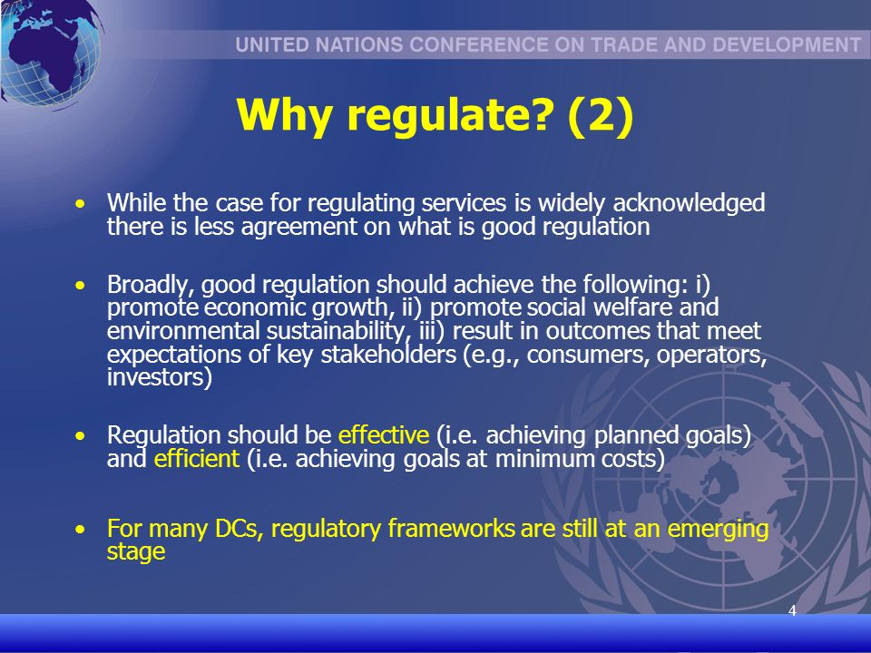 UNCTAD/CD-TFT 5 5 Why regulate.