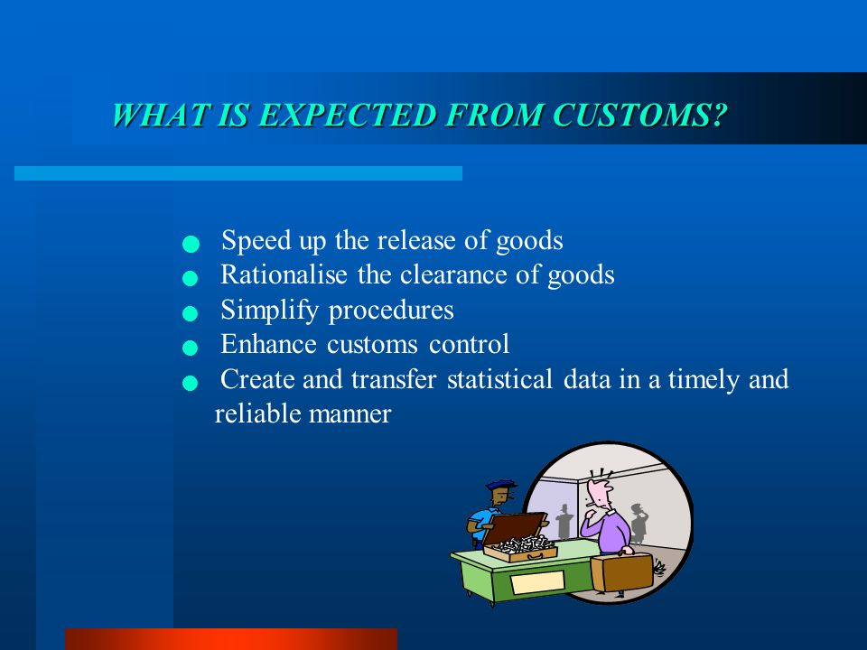 WHAT IS EXPECTED FROM CUSTOMS.