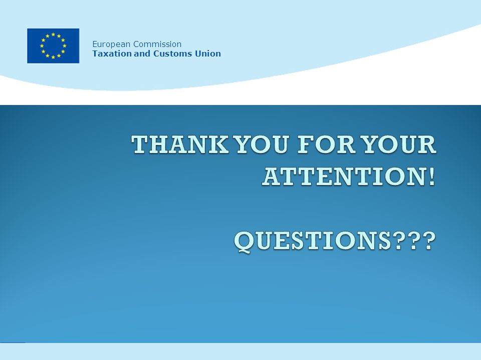 17 European Commission Taxation and Customs Union European Commission Taxation and Customs Union
