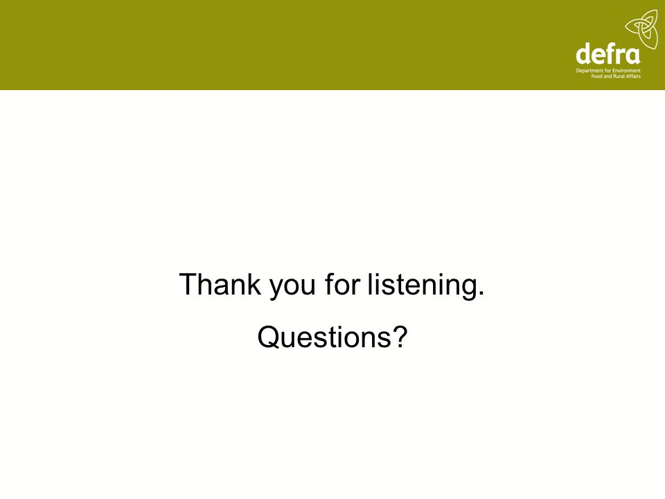 Thank you for listening. Questions