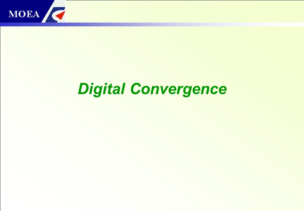 1 Outline Digital Convergence Home Convergence Convergence On-the-Go Concluding Remarks