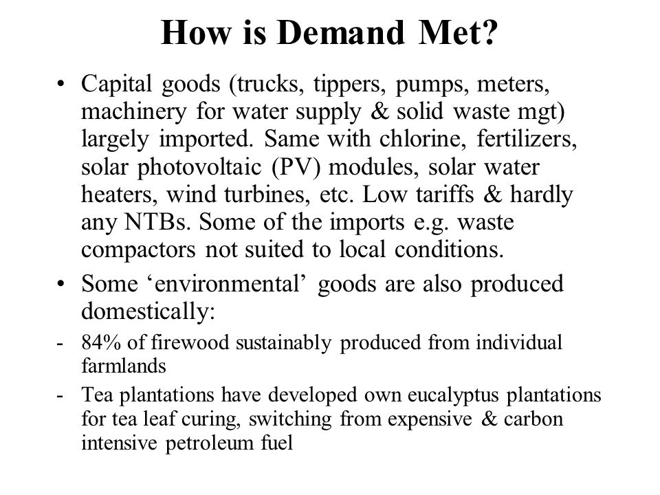 How is Demand Met.-Charcoal & briquettes from alien species (e.g.