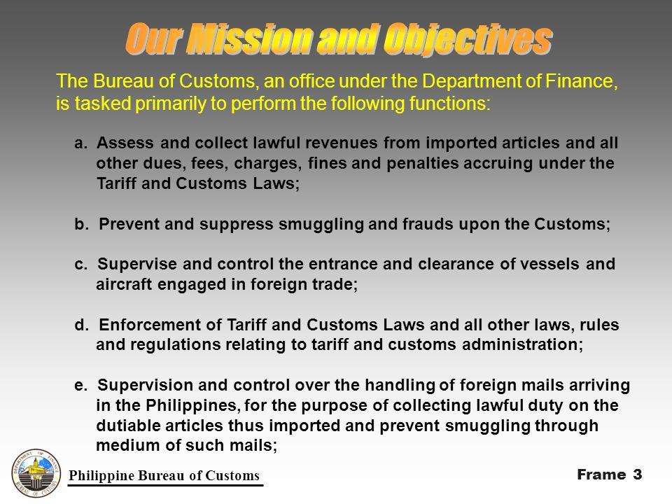 Philippine Bureau of Customs f.