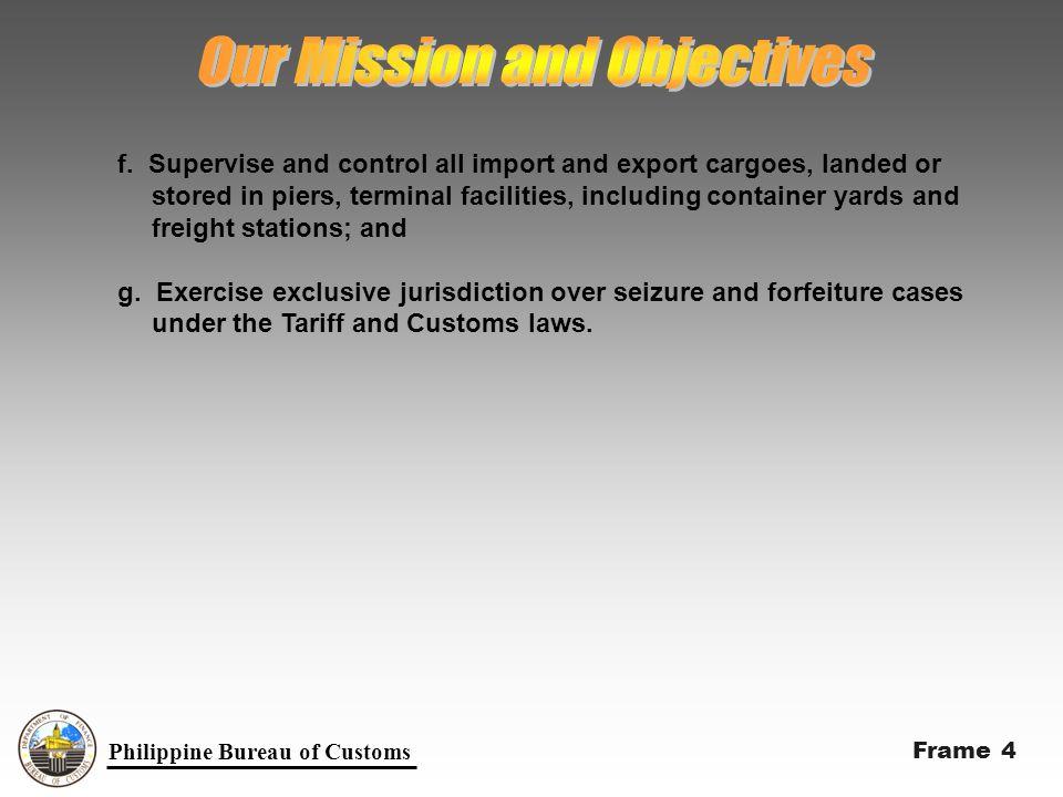 Philippine Bureau of Customs Philippine Customs Profile for Year 2000 a.