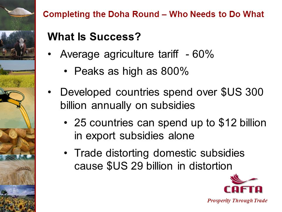 Completing the Doha Round – Who Needs to Do What Prosperity Through Trade What Is Success.