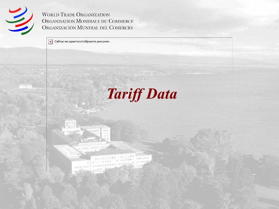 Tariff Data
