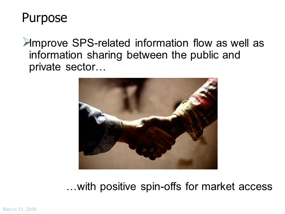 March 31, 2006 Implications for Implementation of the SPS Agreement.