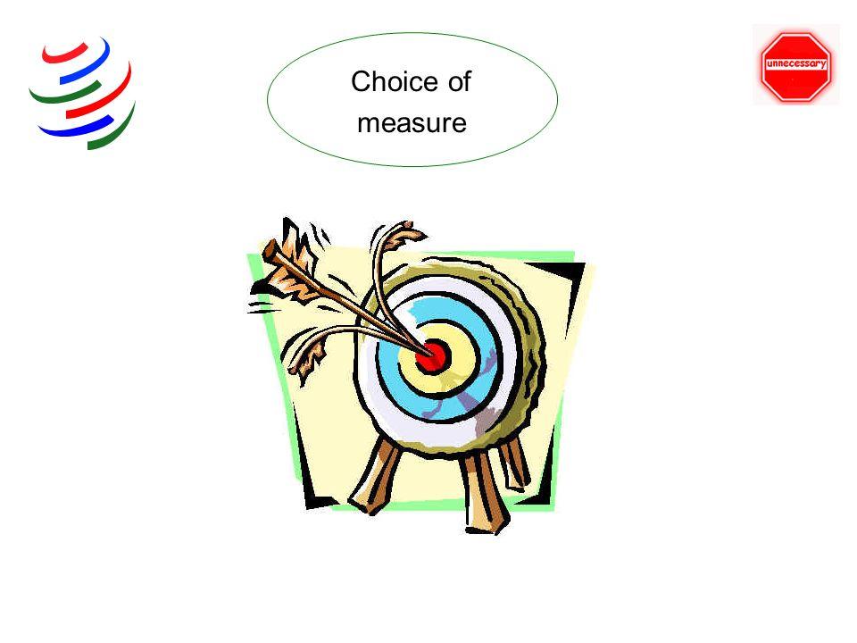 Choice of measure