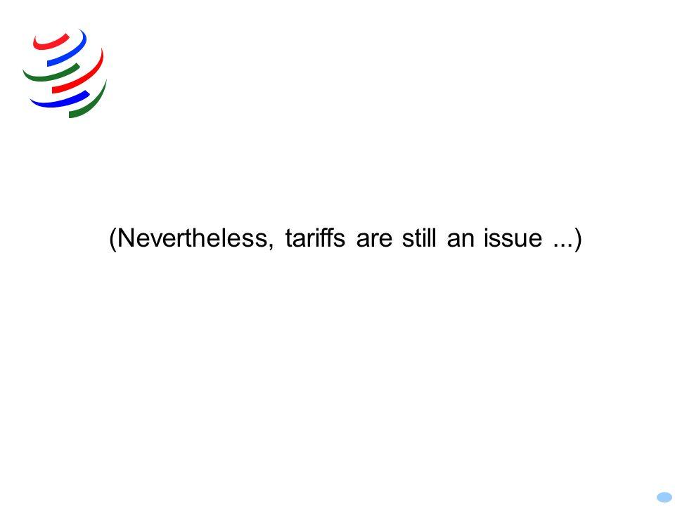 (Nevertheless, tariffs are still an issue...)