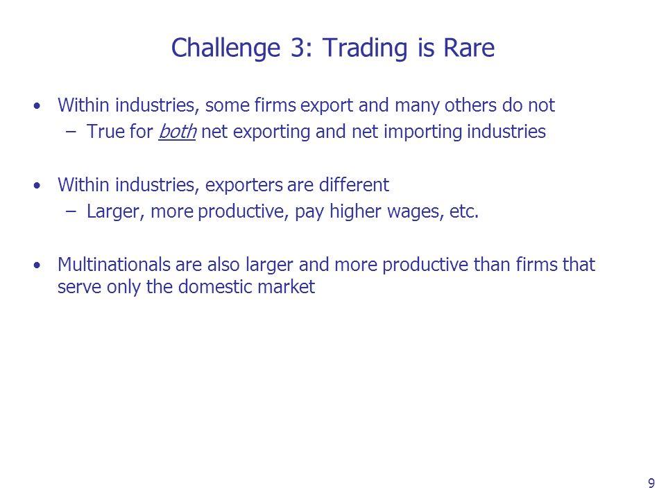 10 Exporting is Rare (Bernard, Jensen, Redding and Schott 2007)