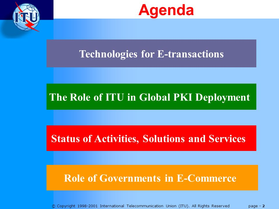 © Copyright 1998-2001 International Telecommunication Union (ITU).
