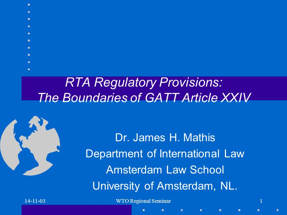 14-11-03WTO Regional Seminar12 Protectionism or commercial policy (Mathis approach) Articles listing: VI and XIX are not listed, IF these are ORRCs, then eliminate: 1.