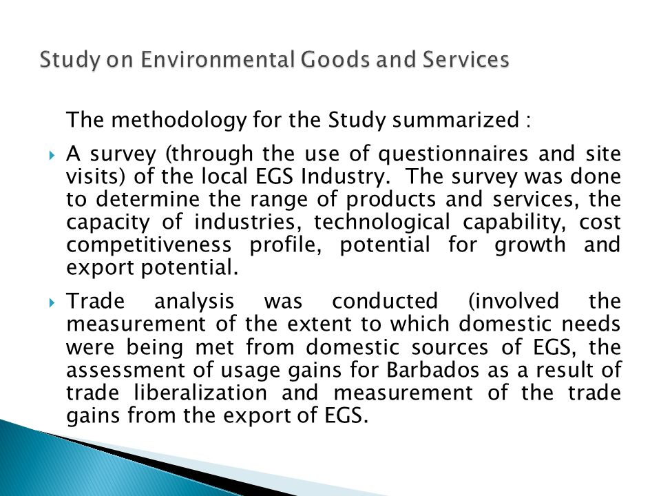 The Ministry of the Environment, Water Resources and Drainage is proposing to undertake further study under Paragraph 31 (iii).