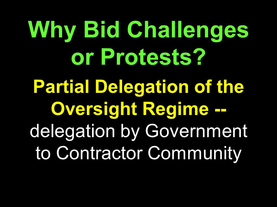 Why Bid Challenges or Protests.
