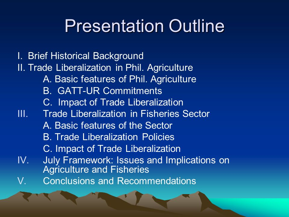III.Trade Liberalization in the Fisheries Sector B.
