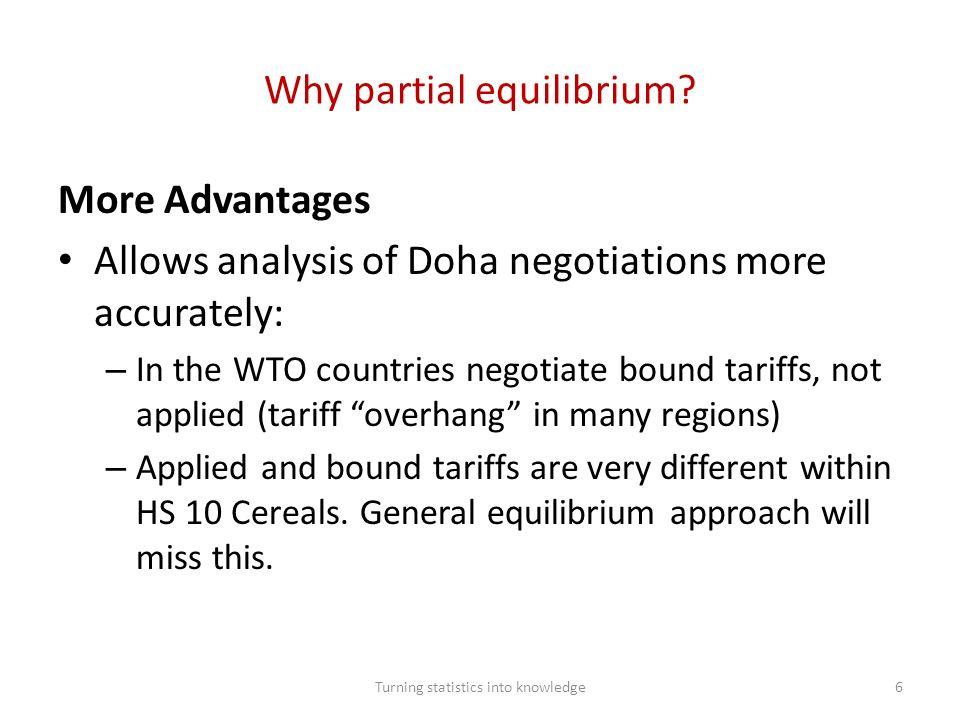 Why partial equilibrium.
