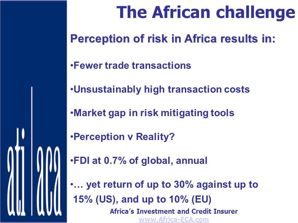Africas Investment and Credit Insurer www.Africa-ECA.com Thank You www.Africa-eca.com Peter.Jones@Africa-eca.com Telephone +254 (0)20 271 9793 or +254 (0)724 256695