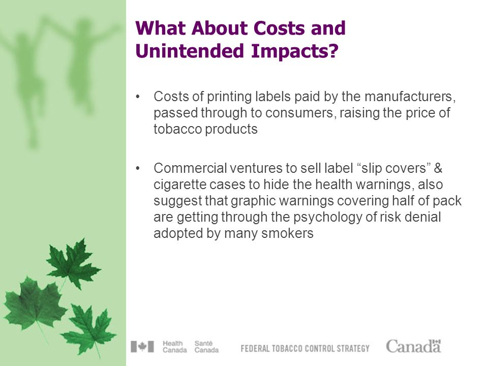 What About Costs and Unintended Impacts.