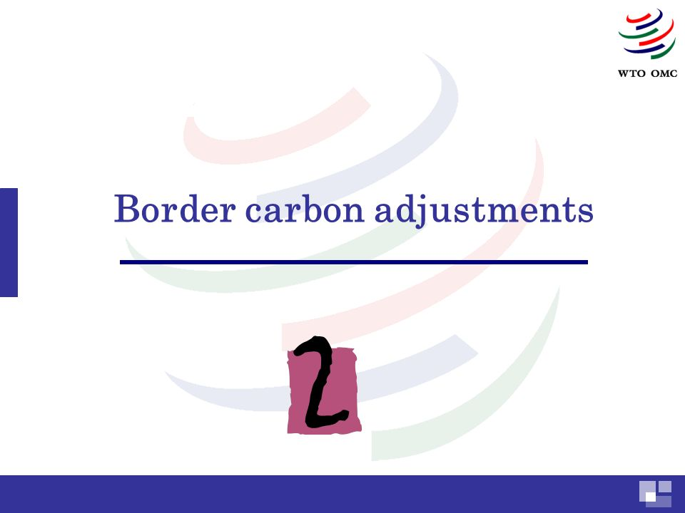 Border carbon adjustments