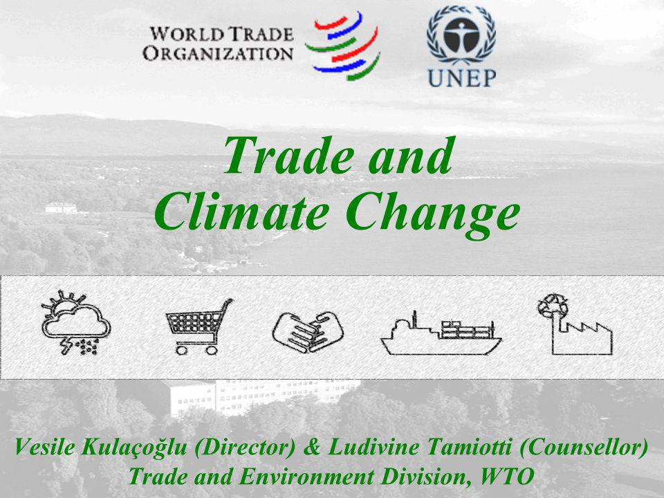 1 Vesile Kulaçoğlu (Director) & Ludivine Tamiotti (Counsellor) Trade and Environment Division, WTO Trade and Climate Change