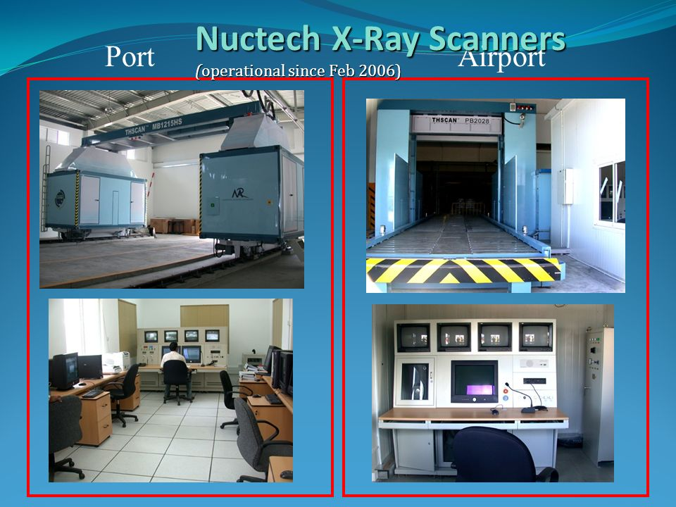 PortAirport Nuctech X-Ray Scanners (operational since Feb 2006)