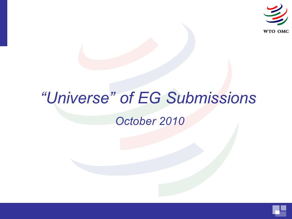 Universe of EG Submissions October 2010