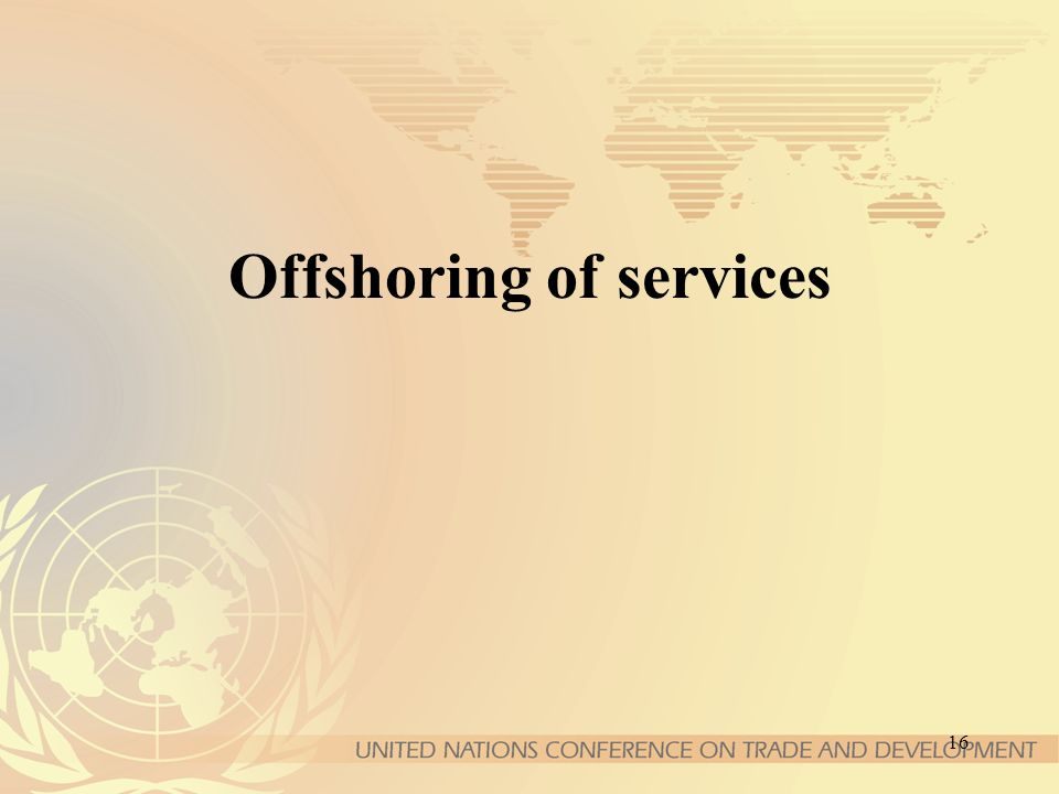 16 Offshoring of services