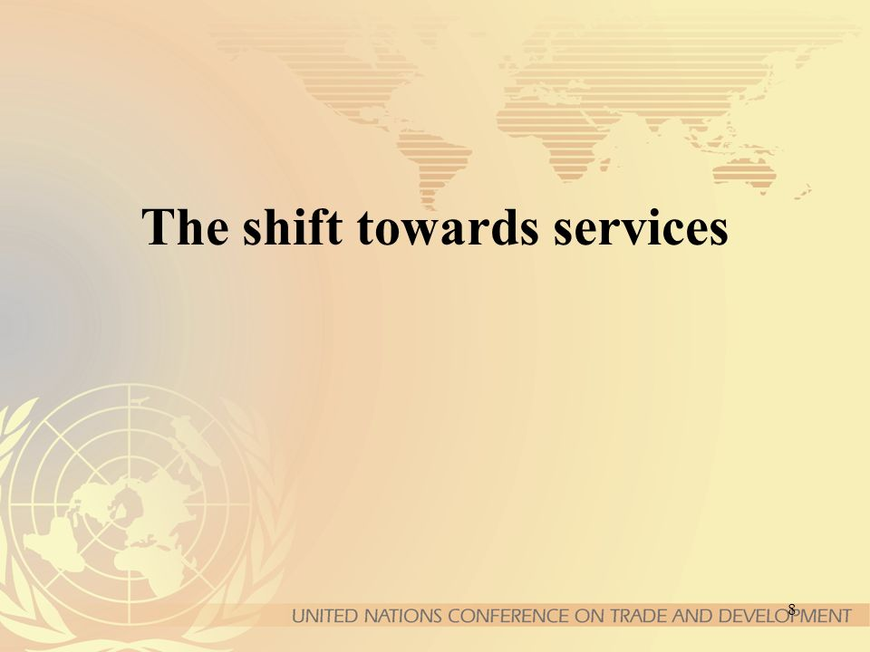 8 The shift towards services