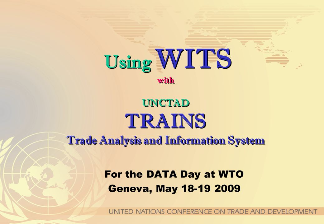 Data Download (Quick Database Query) Download: -Tariff schedules at tariff line level (TRL) -Ad Valorem Equivalents at TRL -Import statistics at TRL -Non-Tariff Measures By country, by year and by data type