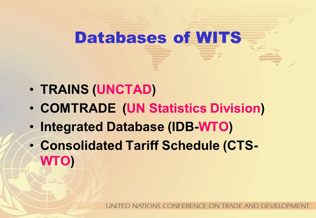 CONTACT Trade Information Section UNCTAD/DITC/TAB Palais des Nations 1211 Geneva 10, Switzerland E-mail: trains@unctad.org Fax: +41 22 917 0044