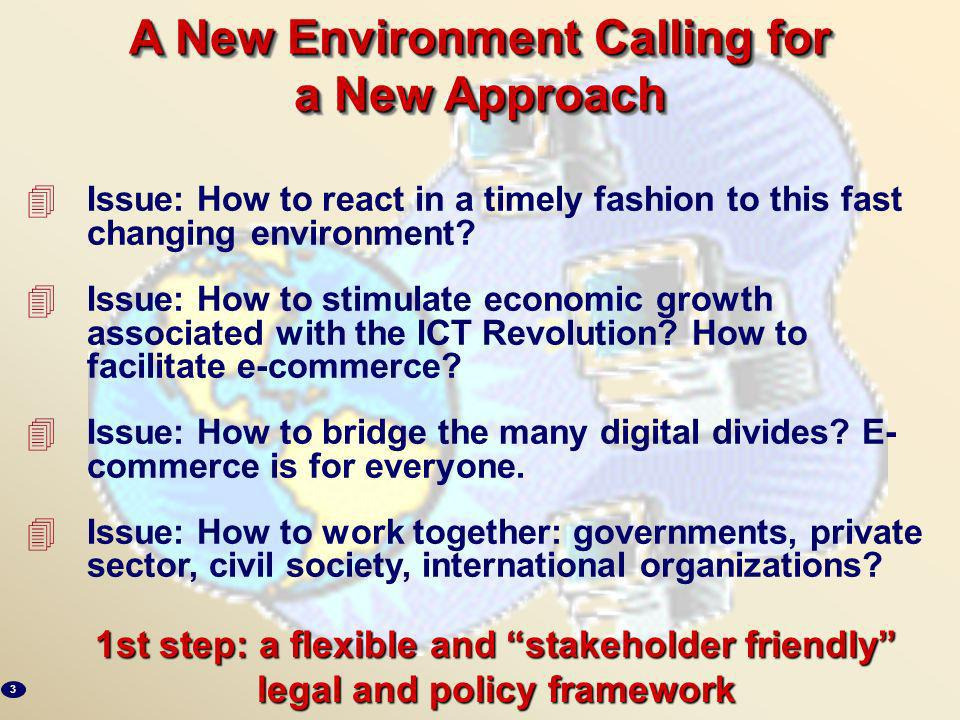 4Issue: How to react in a timely fashion to this fast changing environment.