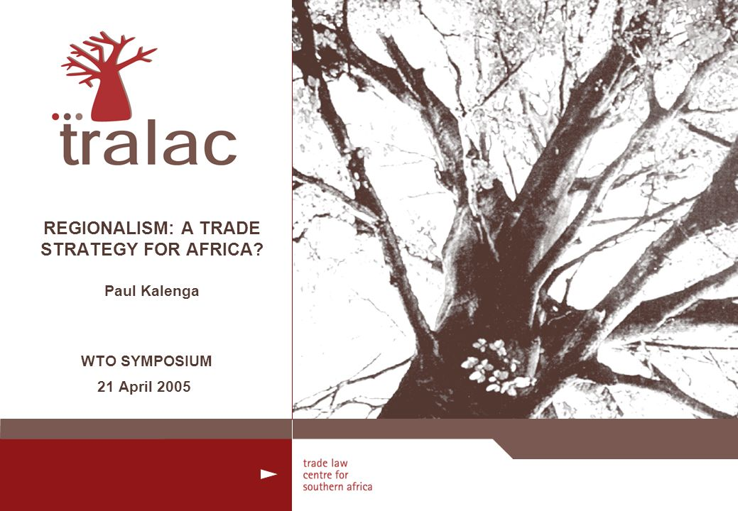 2 INTRODUCTION Regionalism - still a viable trade strategy for Africa.