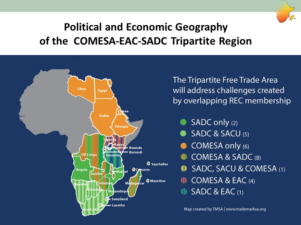 Political and Economic Geography of the COMESA-EAC-SADC Tripartite Region