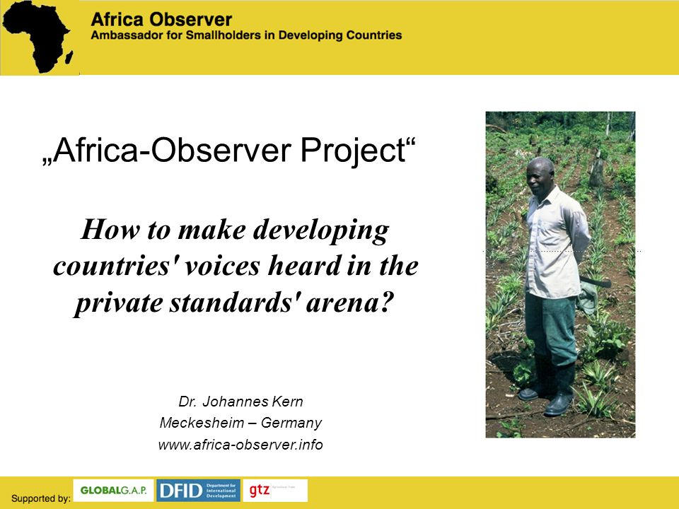 Africa-Observer Project Dr.