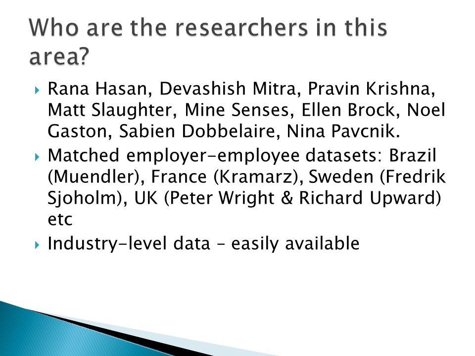 Rana Hasan, Devashish Mitra, Pravin Krishna, Matt Slaughter, Mine Senses, Ellen Brock, Noel Gaston, Sabien Dobbelaire, Nina Pavcnik.
