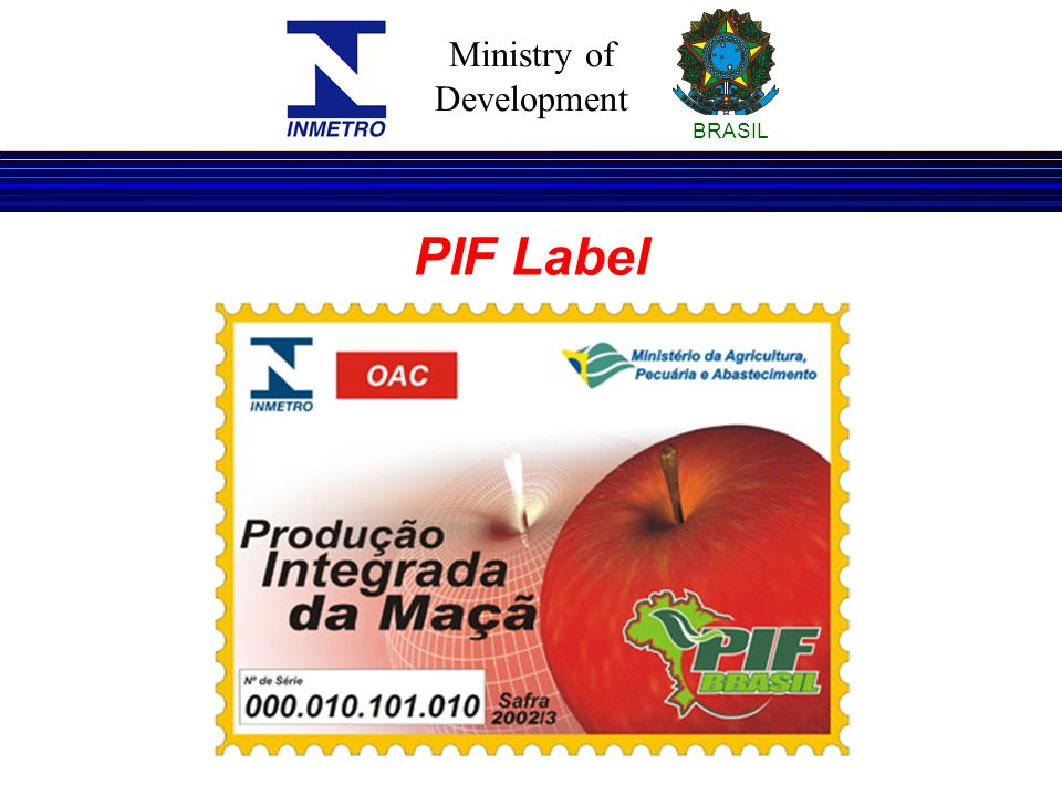Ministry of Development BRASIL PIF Label