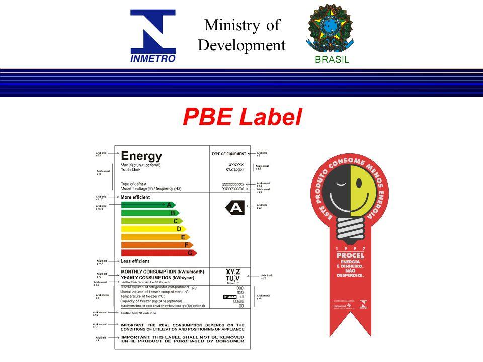 Ministry of Development BRASIL PBE Label