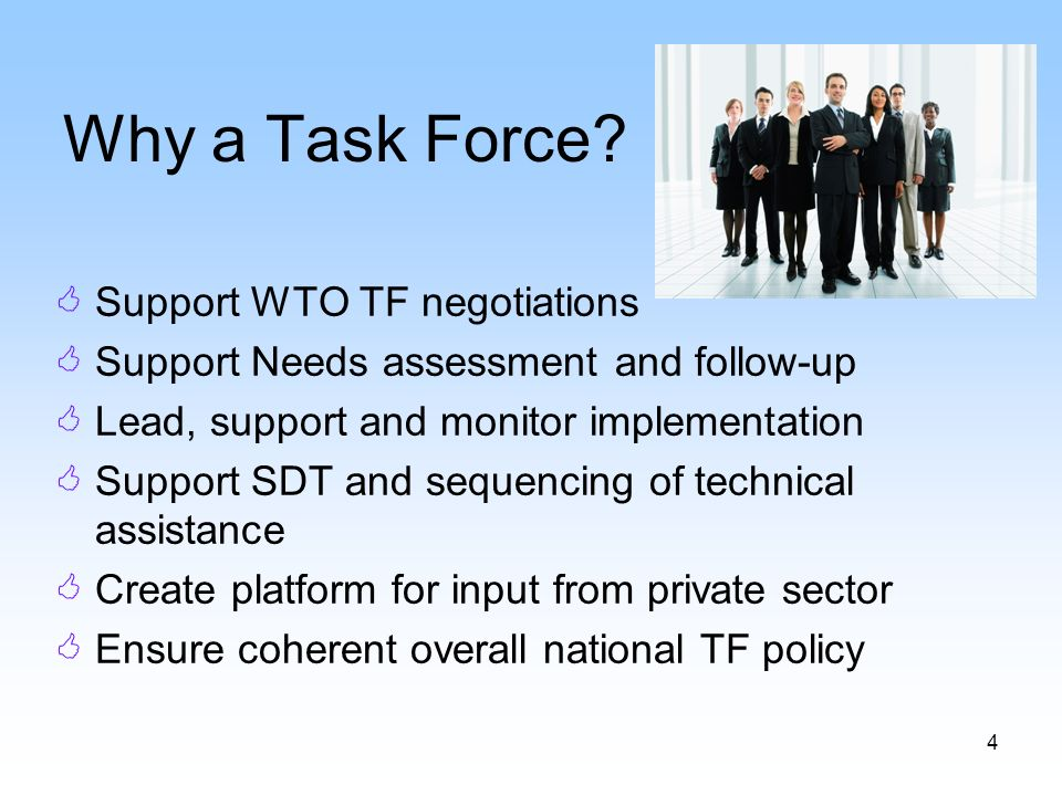 4 Why a Task Force.