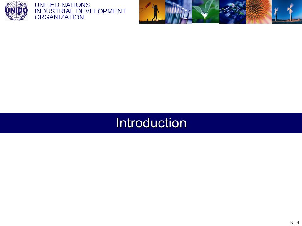 UNITED NATIONS INDUSTRIAL DEVELOPMENT ORGANIZATION No.4 Introduction