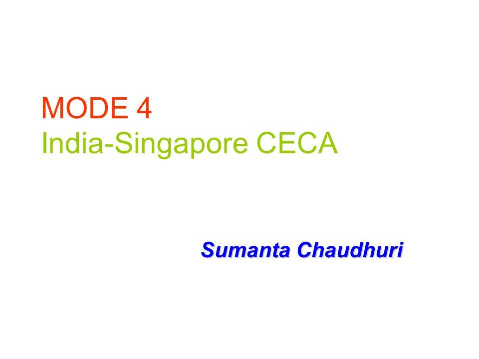 MODE 4 India-Singapore CECA Sumanta Chaudhuri
