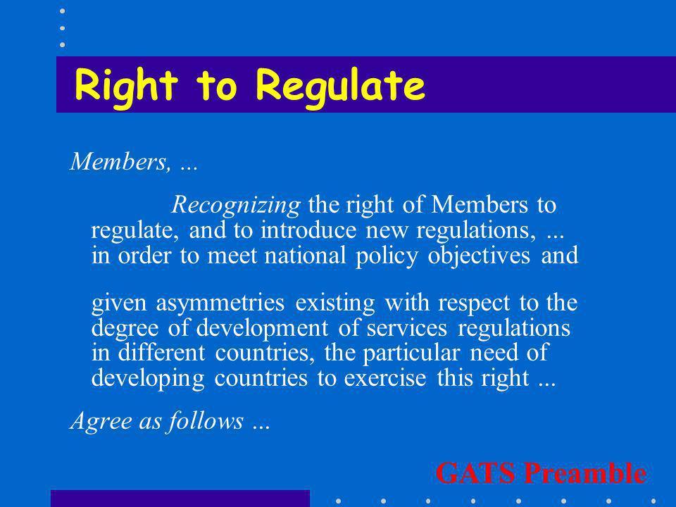 Reasonable Regulation